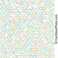 Seamless Multicolored Cube Pattern