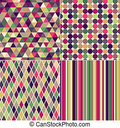 seamless multicolored pattern
