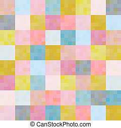 seamless multicolored squares pattern