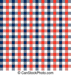 Seamless multicolour gingham pattern. Red and blue pattern.