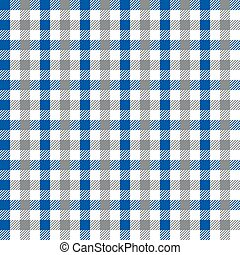 Seamless multicolour gingham pattern. Blue and grey pattern.