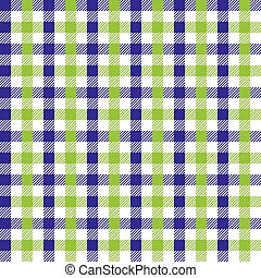 Seamless multicolour gingham pattern. Lime green and violet...