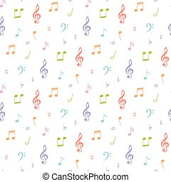 seamless music note pattern and background vector illustration