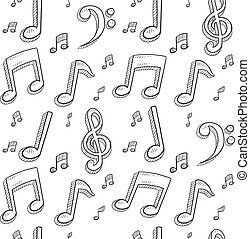 Seamless music notes background
