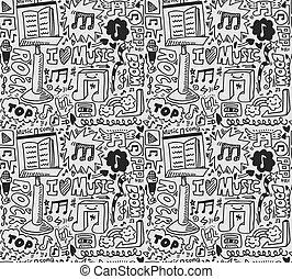 seamless music pattern  - seamless music pattern