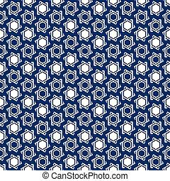 Seamless muslim pattern - Muslim blue-white seamless...