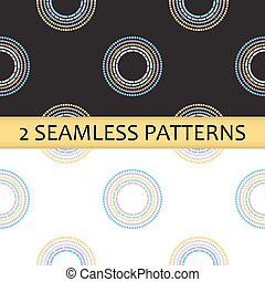 seamless, muster, mit, gefärbt, abstrakt, kreise