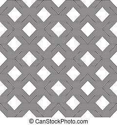 seamless, muster, mit, linie, schwarz weiß