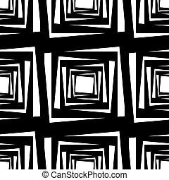 seamless, muster, mit, quadrate, vektor, abbildung