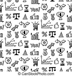 seamless, muster, mit, sozial, medien, doodles