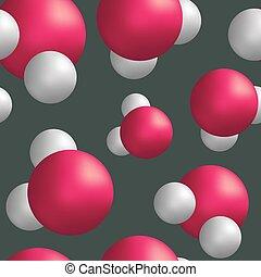 seamless, muster, wasser, moleküle