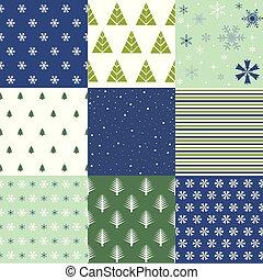 seamless, muster, winter, weihnachten, vektor