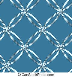 seamless, náutico, corda, padrão