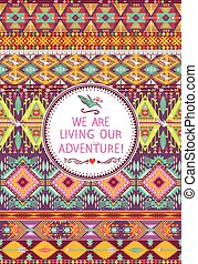 Seamless native colorful pattern