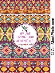 Seamless native colorful pattern
