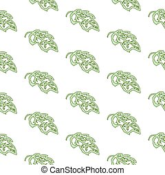 Seamless natural pattern of leaves. Background.
