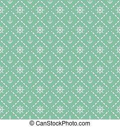 Seamless nautical elements pattern