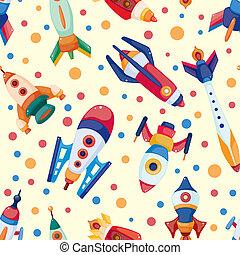seamless, nave espacial, patrón