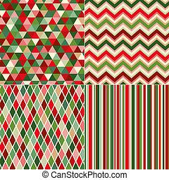 seamless, navidad, colores, patrón