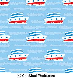 seamless, navios, padrão