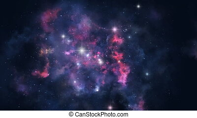 Seamless nebula rotation - Loopable animation of rotating...