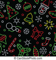 seamless, neon, karácsony, háttér