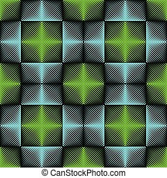 Seamless Neon Light Pattern. Abstract Blue and Green Background