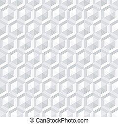 seamless, neposkvrněný, 3, šestiúhelník, pattern.