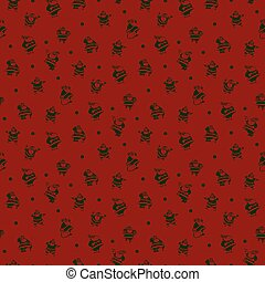 seamless new year pattern and background vector illustration