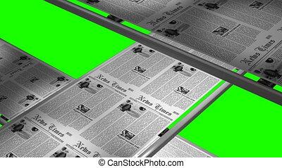 Seamless newspaper printing