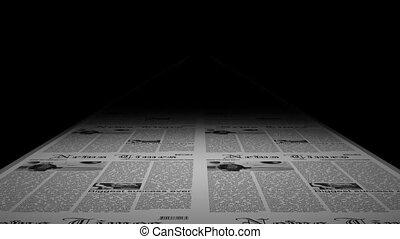 Seamless newspaper printing - Newspaper press printing -...