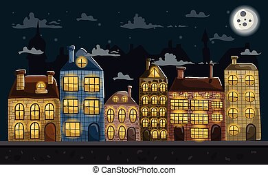 Seamless night city