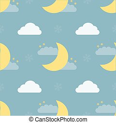 seamless night sky pattern