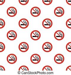 Seamless no smoking sign pattern on white