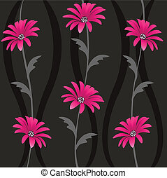 seamless, noha, floral példa