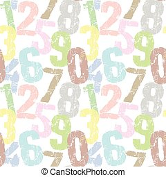 seamless numbers pattern and background vector illustration