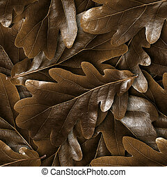 Seamless oak fall leafs background.