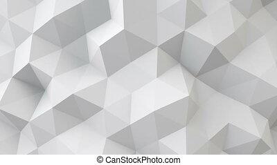 seamless, oberfläche, polygonal, weißes, geometrisch, ...