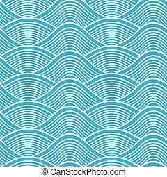 seamless, océan, japonaise, bonimenter, vague