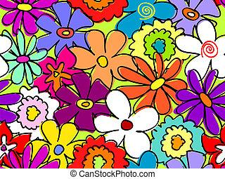 seamless, occupé, modèle fleur, 2