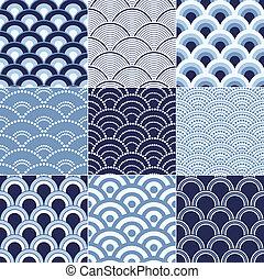 seamless, ocean vink, mønster