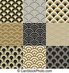 seamless ocean wave pattern - seamless ocean wave pattern...