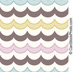 seamless ocean wave patttern