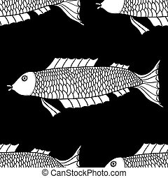 Seamless of fish background.