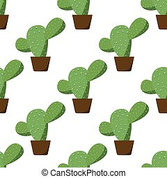 Seamless of green cactus
