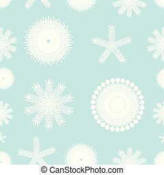seamless of snowflakes on a blue background
