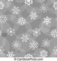 seamless of white snowflakes on a white background