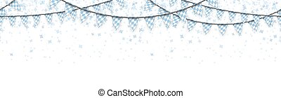 seamless Oktoberfest garlands with confetti