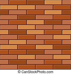 Seamless Old Brick Wall Pattern. Vector