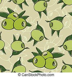 Seamless olive pattern
